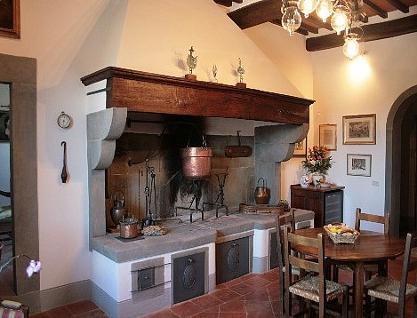 Country Home Decorating Ideas for different Decorating Styles Italian Country Home Decorating  An Italian country kitchen with the open  fireplace
