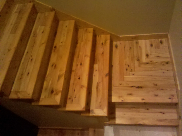 Photo Gallery Butcher Block Countertops Stair Parts Wood   Unfinished Hickory Stair Treads   Stair Nosing   Stairtek   Flooring   Stair Parts   Wood