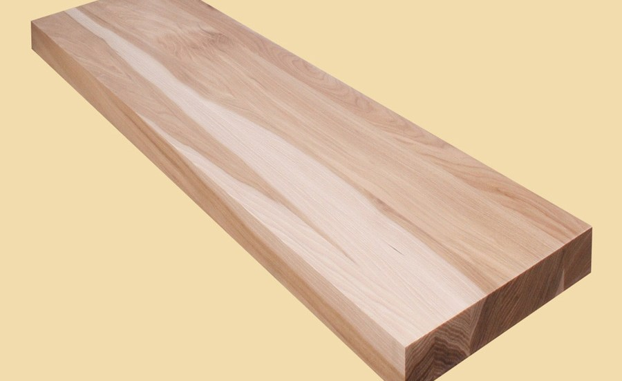 Custom Size Hickory Extra Thick Stair Tread Prefinished Quote | Prefinished Hickory Stair Treads And Risers | Hand Scraped | Stairtek | Retread | Hickory Natural | Unfinished