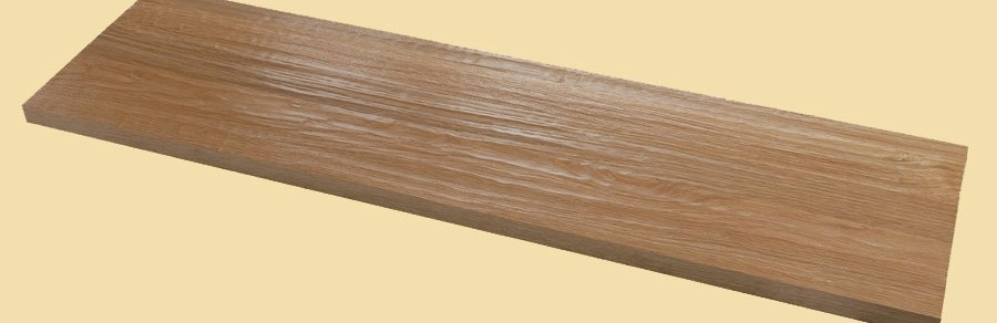 White Oak Hand Scraped Full Thickness Stair Tread Prefinished | Distressed Wood Stair Treads | Oak Stair | Bullnose Manufacturing | Straight Edge Wood | White Oak | Heavy Timber Stair