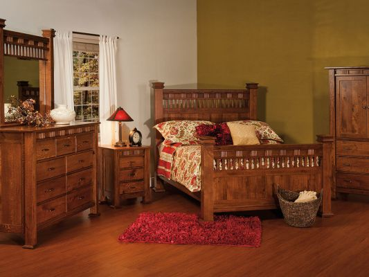 Tuskegee Mission Bed   Countryside Amish Furniture image description
