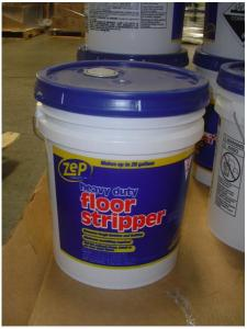 Gallon Zep Brand Cleaner  Floor Stripper Sold at Home Depot Recalled     Picture of Recalled Zep Heavy Duty Floor Stripper