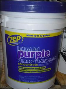 Gallon Zep Brand Cleaner  Floor Stripper Sold at Home Depot Recalled     Picture of Recalled Zep Purple Cleaner   Degreaser