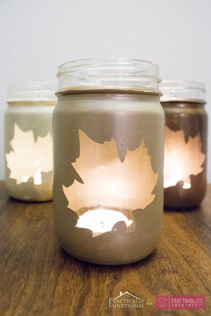 Craftaholics Anonymous 174 Diy Fall Leaf Mason Jar
