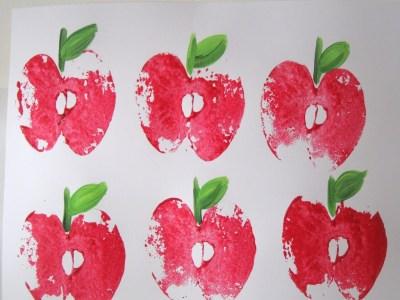 Apple print wreath….