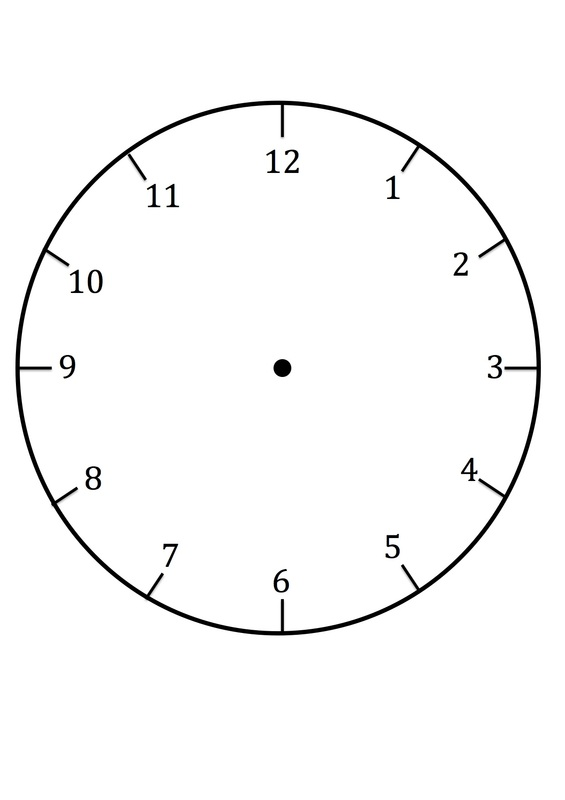 Clock Print Out Template