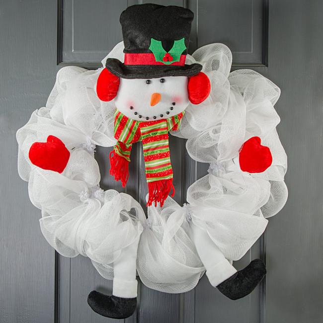 Kit Deco Snowman Wreath Mesh