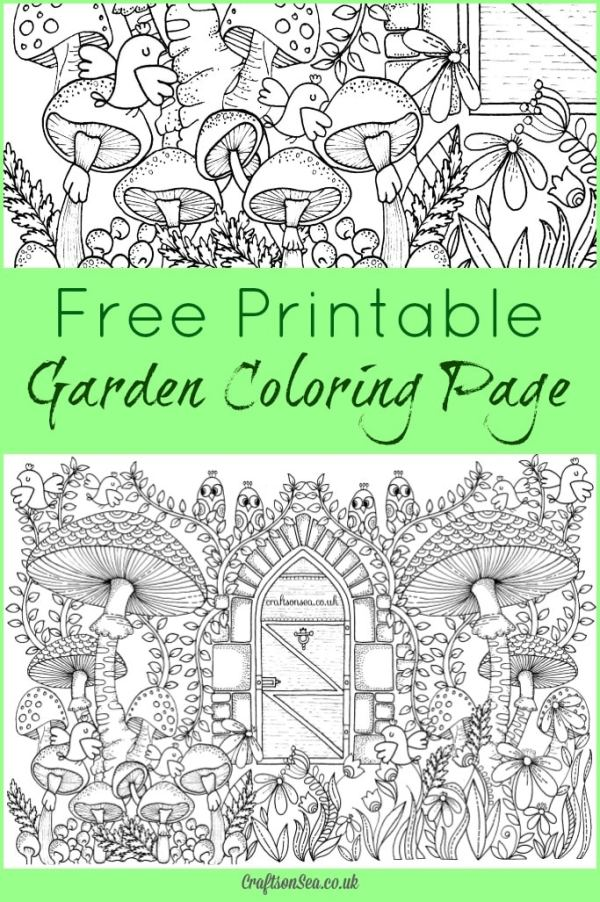 garden coloring page # 50