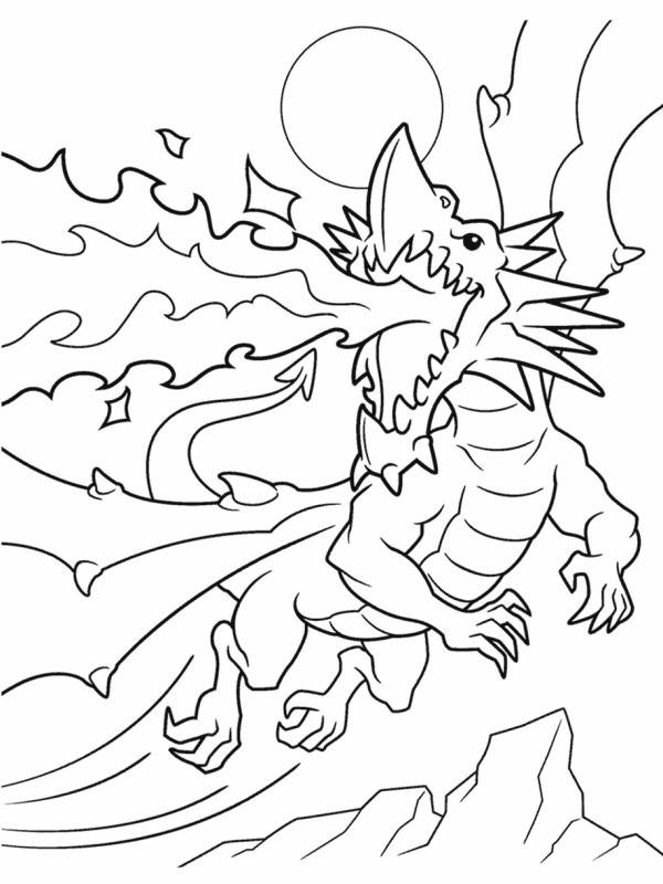 coloring pages dragon # 10