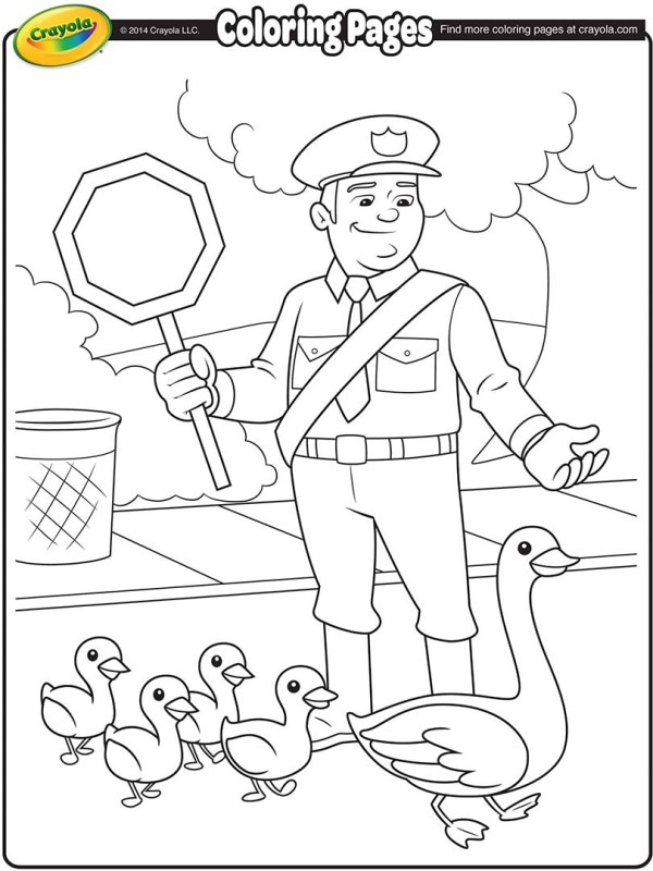 policeman coloring page # 6