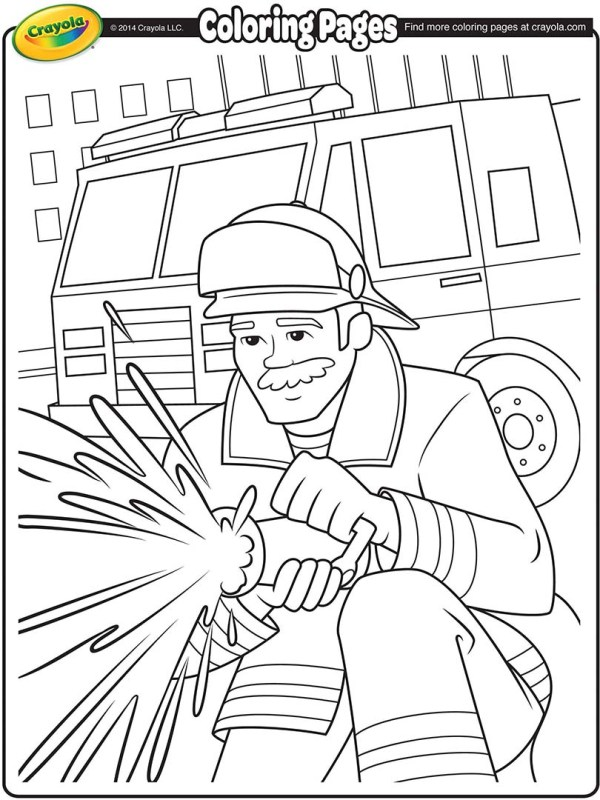 fireman coloring page # 4