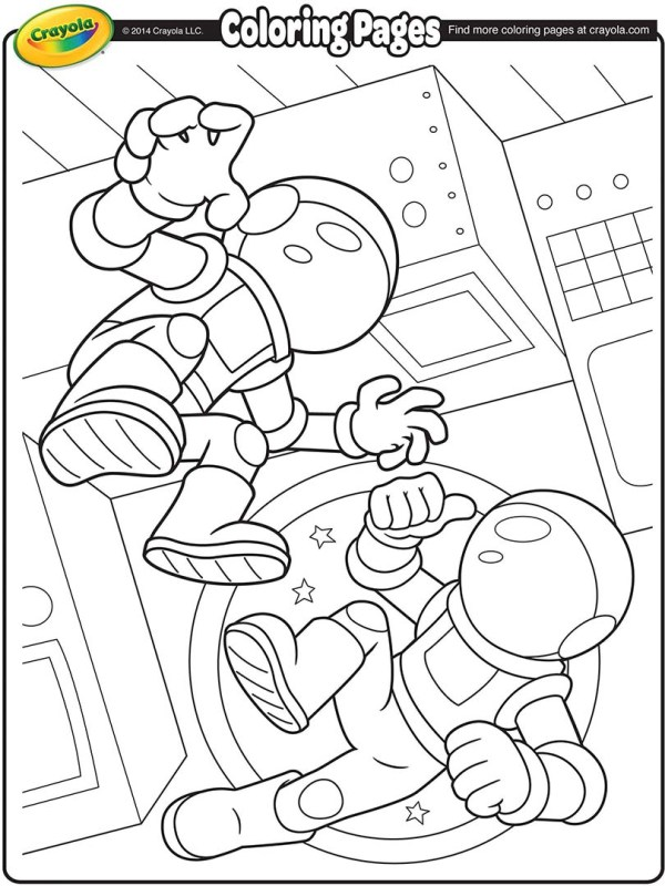 space coloring page # 10