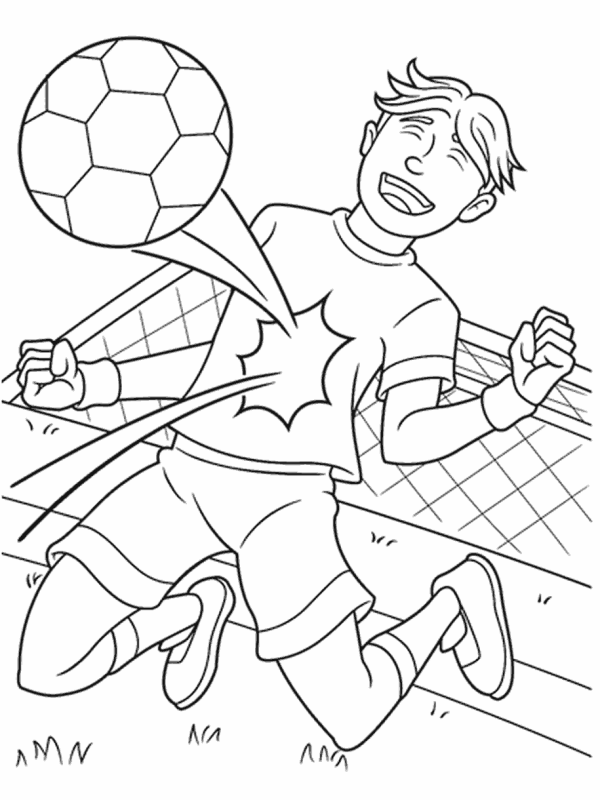 soccer coloring page # 0