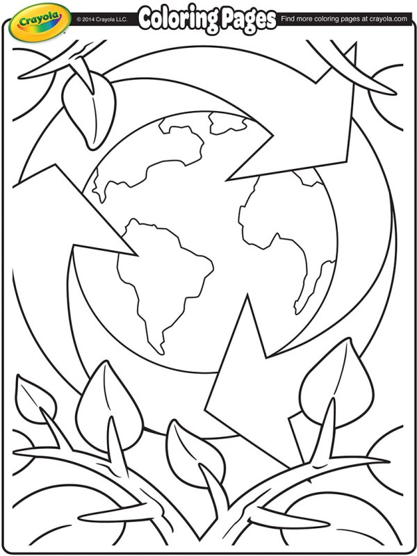 recycle coloring pages # 3