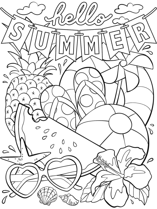 summer coloring pages printable # 2