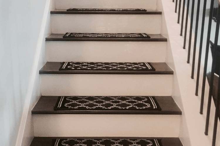 Diy Stair Treads An Easy Way To Get Anti Slip Stairs   No Slip Strips For Carpeted Stairs   Hardwood   Traction   Brown Cinnamon   Tread Nosing   Flooring