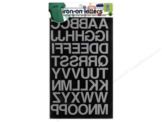 Dritz Iron On Block Letters 1 in  Black    CreateForLess Dritz Iron On Block Letters 1 in  Black