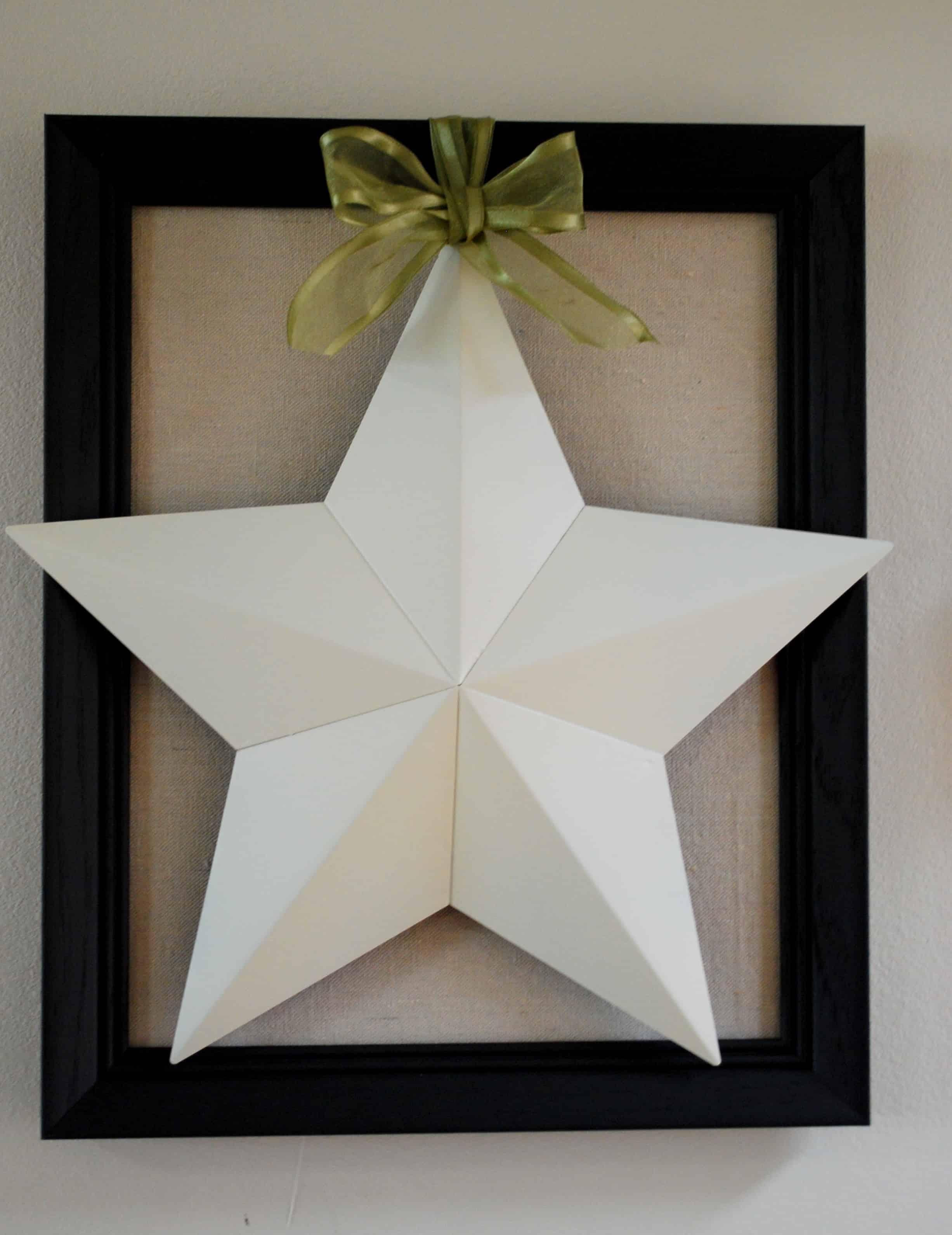 Framed Barn Star
