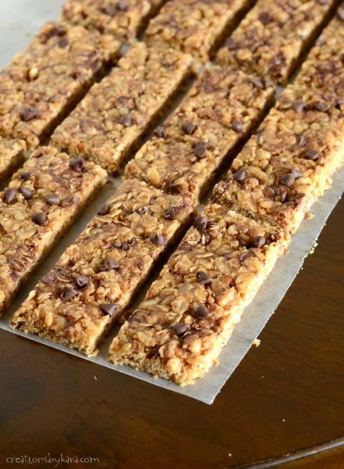 Homemade No Bake Granola Bars