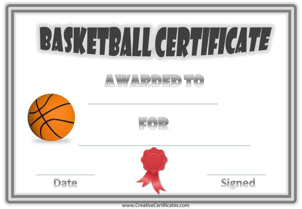 Basketball award certificate templates images certificate design award certificate templates for basketball blank award certificate templates for basketball yadclub images yadclub Choice Image