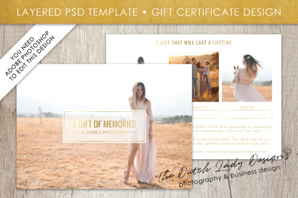 Photography Gift Certificate Template   Photo Gift Card   Layered     Photography Gift Certificate Template     Photo Gift Card     Layered  PSD  Files     Design  31