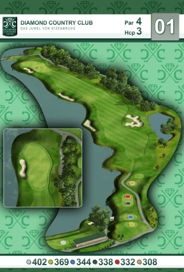 Birdie Book   Creative Golf 3D     3D isometric view for each hole  generating excellent and high quality  materials that can be used for the further graphic processing of 3D Birdie  Books