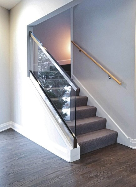 Glass Railings Creative Mirror Shower | Frosted Glass Stair Panels | Smoked | Toughened | Deck | Balcony | Contemporary