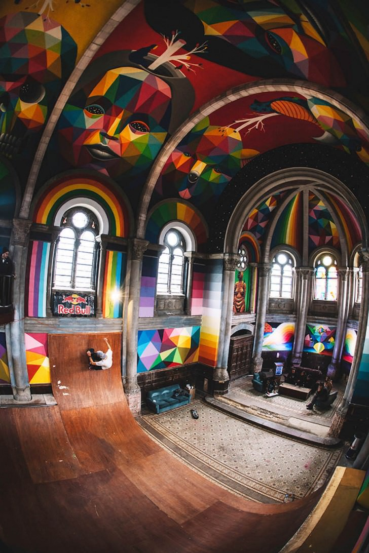 Colorful Skatepark Inside A Church Gift Ideas Creative