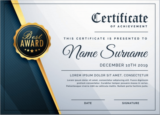 Certificate template free resume templates word free resume certificate template business certificate templates free premium download free business certificate templates wajeb Images