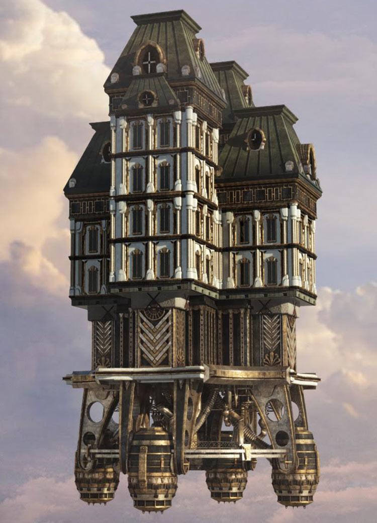 Icarus Hero Flying Building Art Bioshock Infinite Art