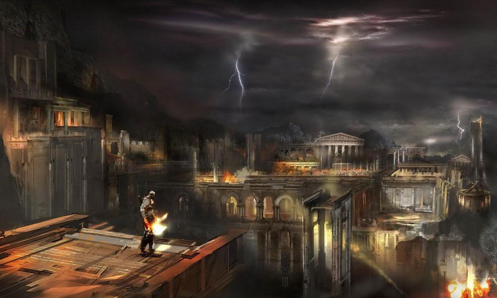 Hermes Run City View Art God Of War Iii Art Gallery