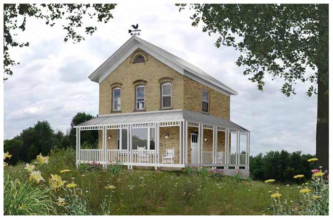 Farmhouse Plans Porches Tin Roof