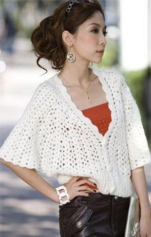 Openwork Crochet Jacket Free Pattern ⋆ Crochet Kingdom