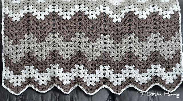 Double Crochet Ripple Afghan Patterns