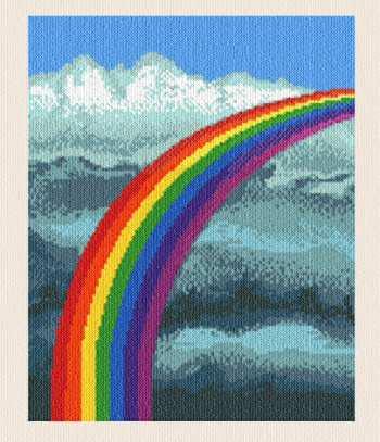 Rainbow Cross Stitch Pattern Scenery
