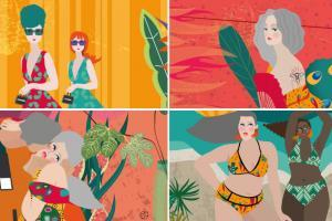 Mix Of Illustrations From A Digital Illustrated Magazine For Women Over 40