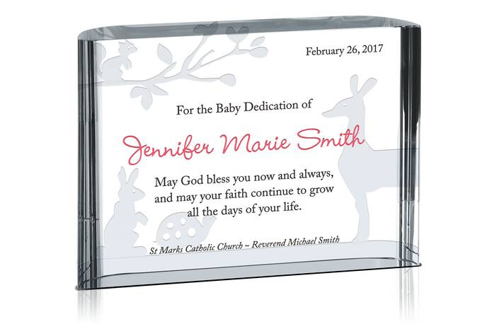 Blessings On Dedication Gift Plaque Crystal Central