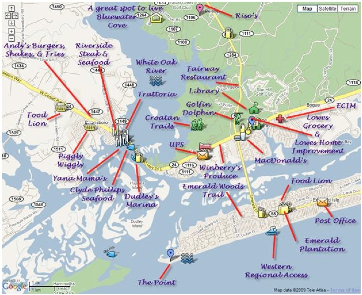 Town Surf City Nc Map