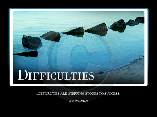 Difficulties Slide For Powerpoint