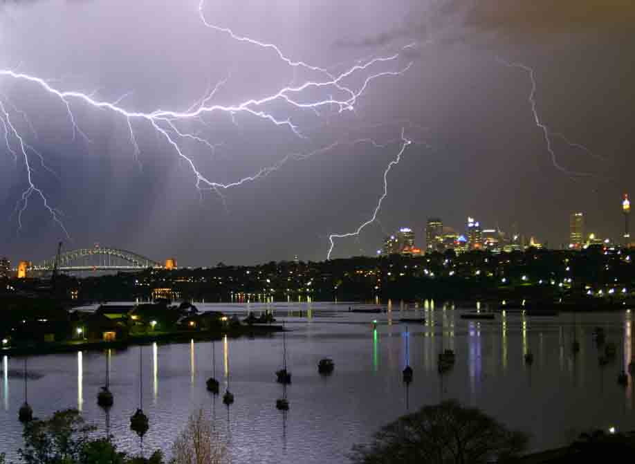 Electrical Storm Over Sydney Harbour