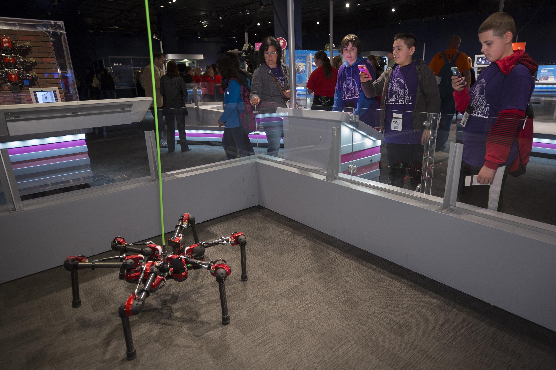 Hebi S Six Legged Daisy Joins Quot Robot Revolution Quot Exhibit