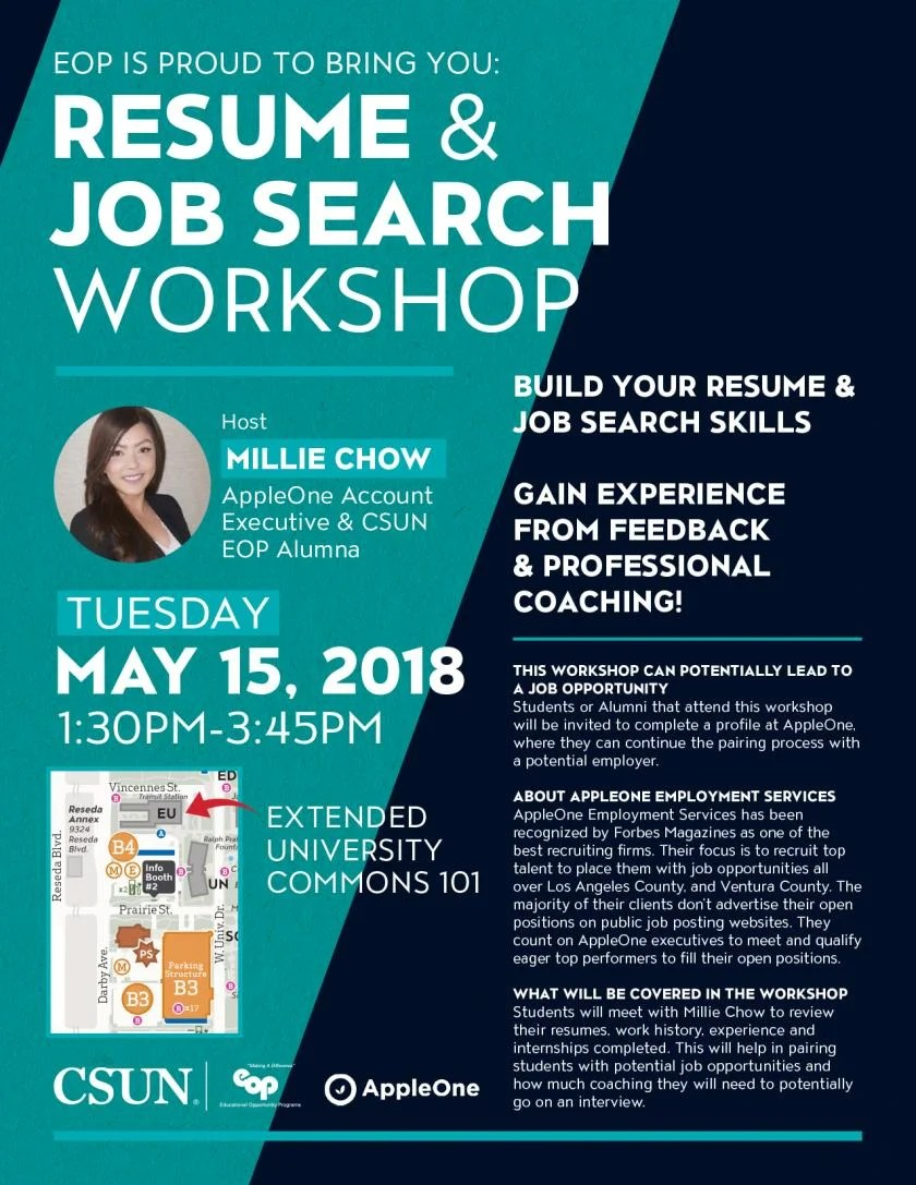 Resume And Job Search Workshop California State
