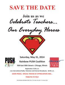 SAVE THE DATE: Teacher Appreciation Day, May 31 | Chicago Teachers Union