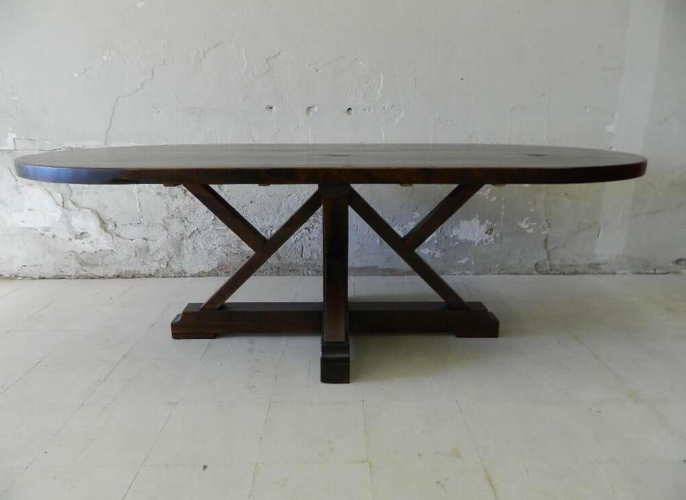 Newbury Rustic Wood Kitchen Table
