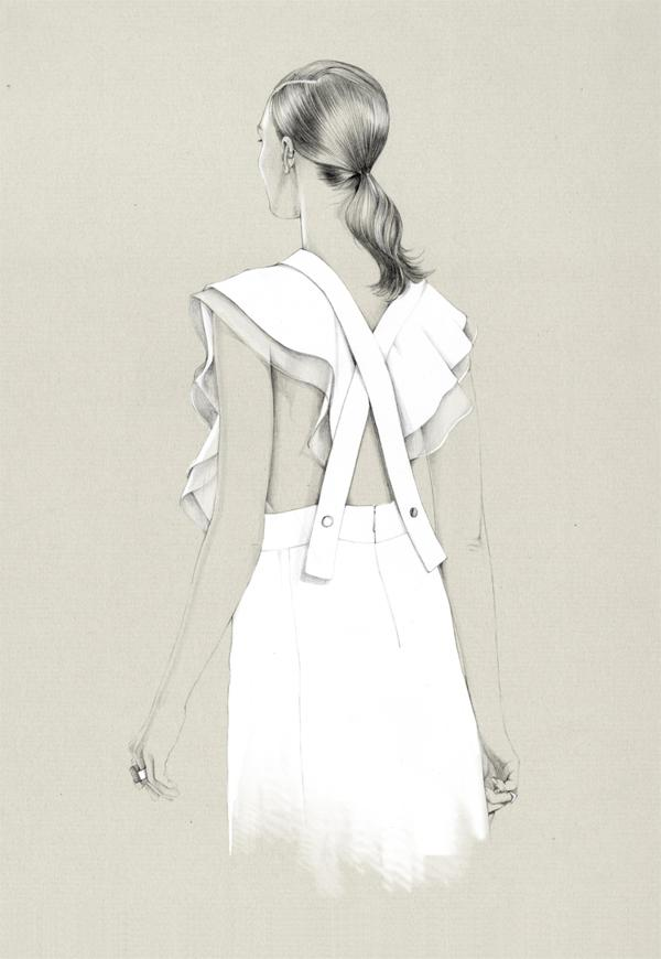 50 Amazing Fashion Sketches   Art and Design Fashion sketches by Caroline Andrieu