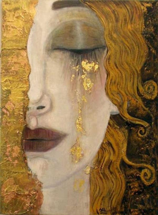 50 Sad Face Pictures   Art and Design Klimt Crying Woman   50 Sad Face Pictures  3  3