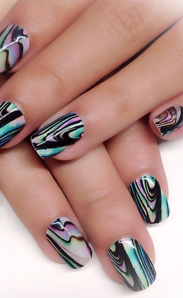 Water Nail Marbling Colors