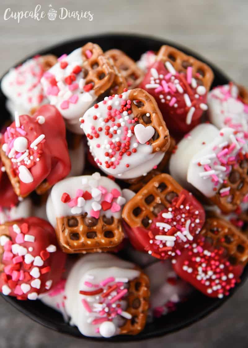 Valentine S Day Caramel Pretzel Bites