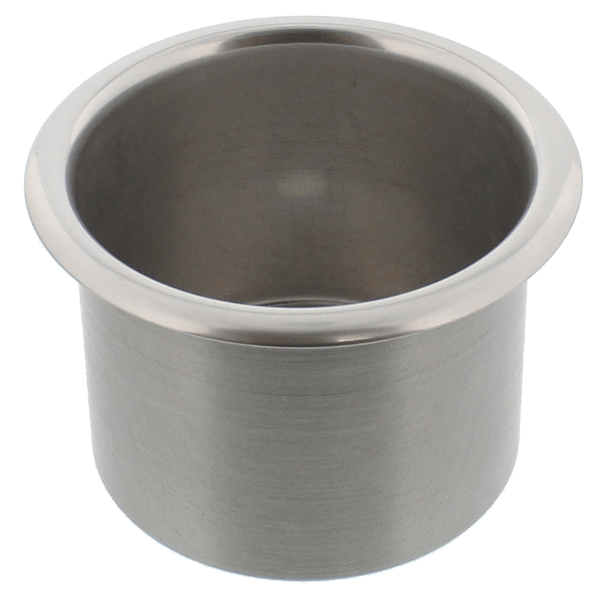 Spun Aluminum Large Cup Holder Insert Clear Anodized