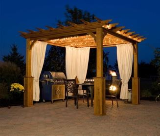 Create A Luxurious Oasis With Pergola Curtains Curtain